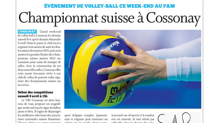 Cossonay: championnats suisses de volley