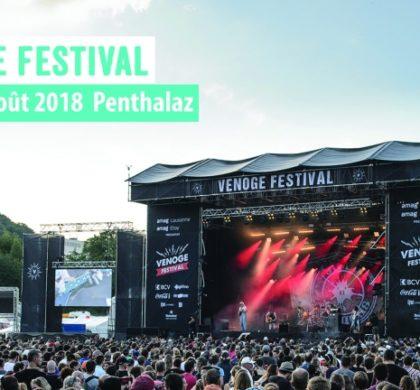 Concours Venoge Festival 2018   5×2 places à gagner !