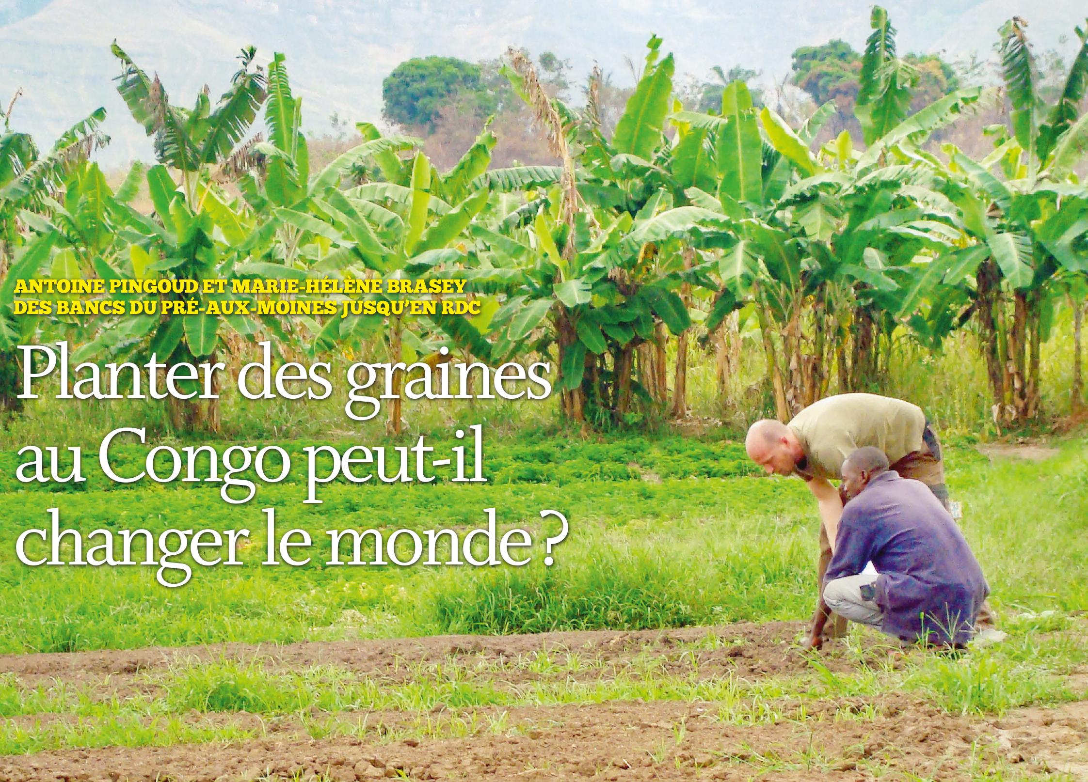 Planter des graines au Congo peut-il changer le monde ?