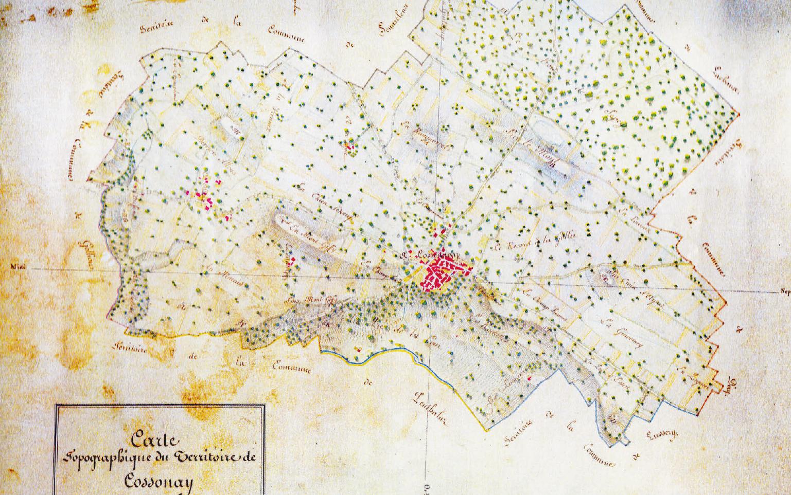Atlas toponymique – Les lieux-dits de Cossonay