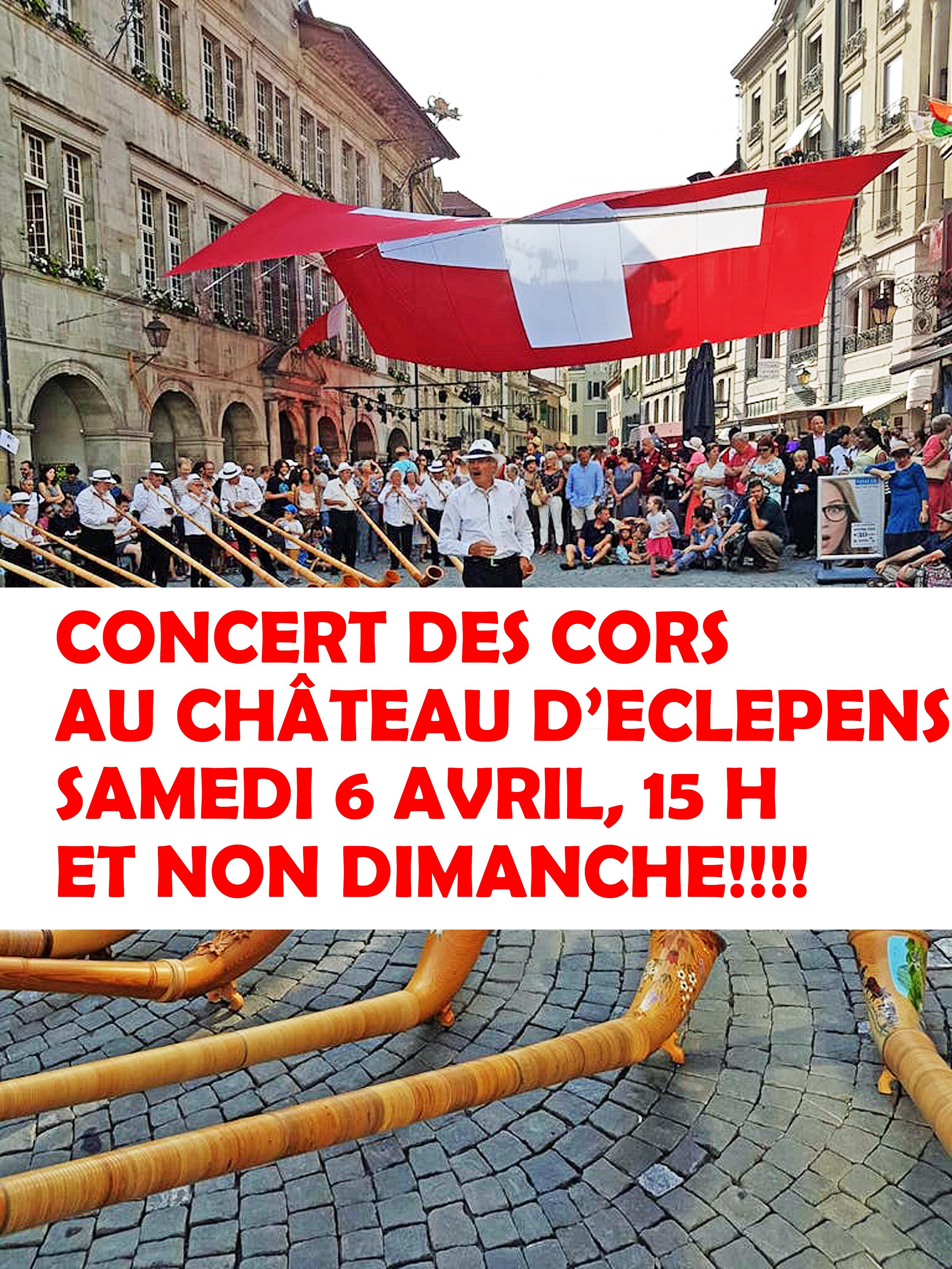 Château d'Eclépens – samedi 6 avril – Des cors dans un beau décor
