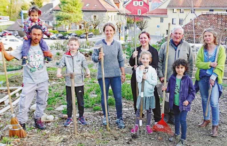 Cossonay – nouveau jardin communautaire – Accueil le dimanche 5 mai !