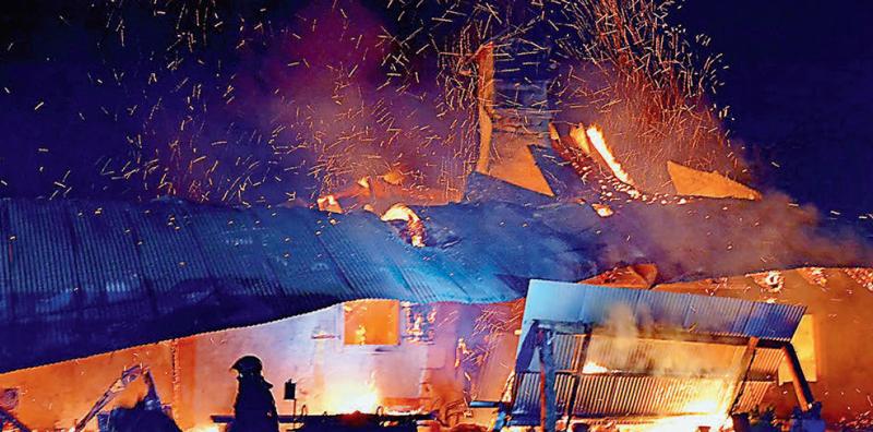 Mont-la-Ville – Chalet d'alpage détruit par les flammes
