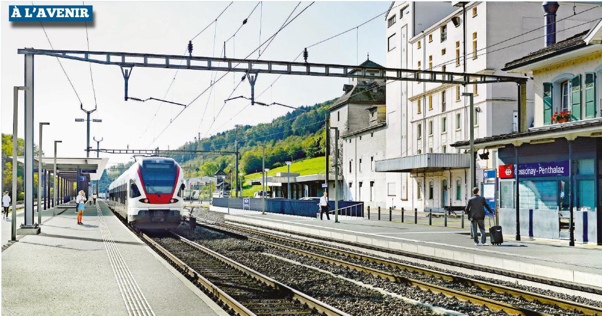 Cossonay-Penthalaz – Enfin la mue de la gare CFF
