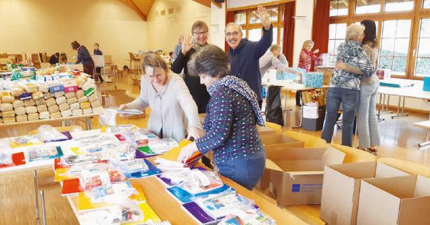 Senarclens – Action «Paquets de Noël» pour les pays de l'Est