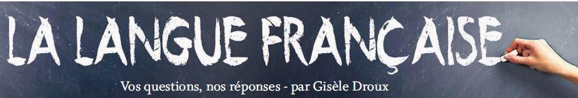 Rubrique, La langue française