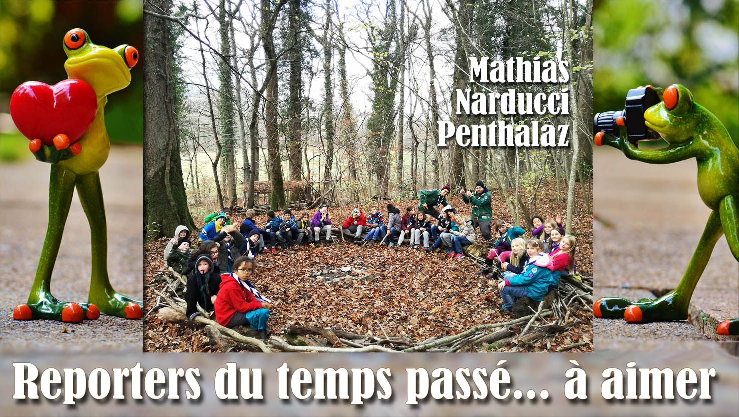 «Le jour en forêt, en 2017, où l'on a entretenu le canapé forestier des Scouts de la Venoge»