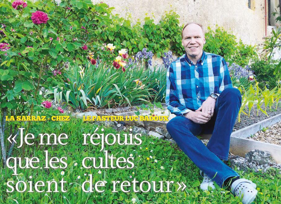 La Sarraz, chez le Pasteur Luc Badoux