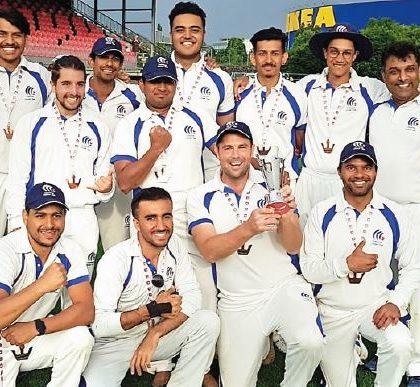 Médaille de bronze pour Cossonay Cricket club !