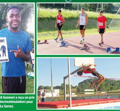 FSG La Sarraz, Premier meeting d'athlétisme