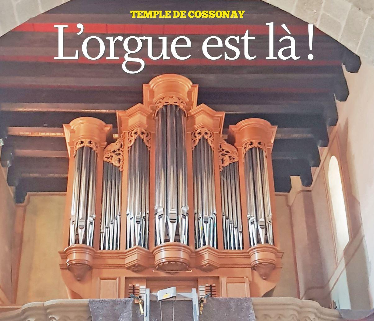 Temple de Cossonay, l'orgue est là !