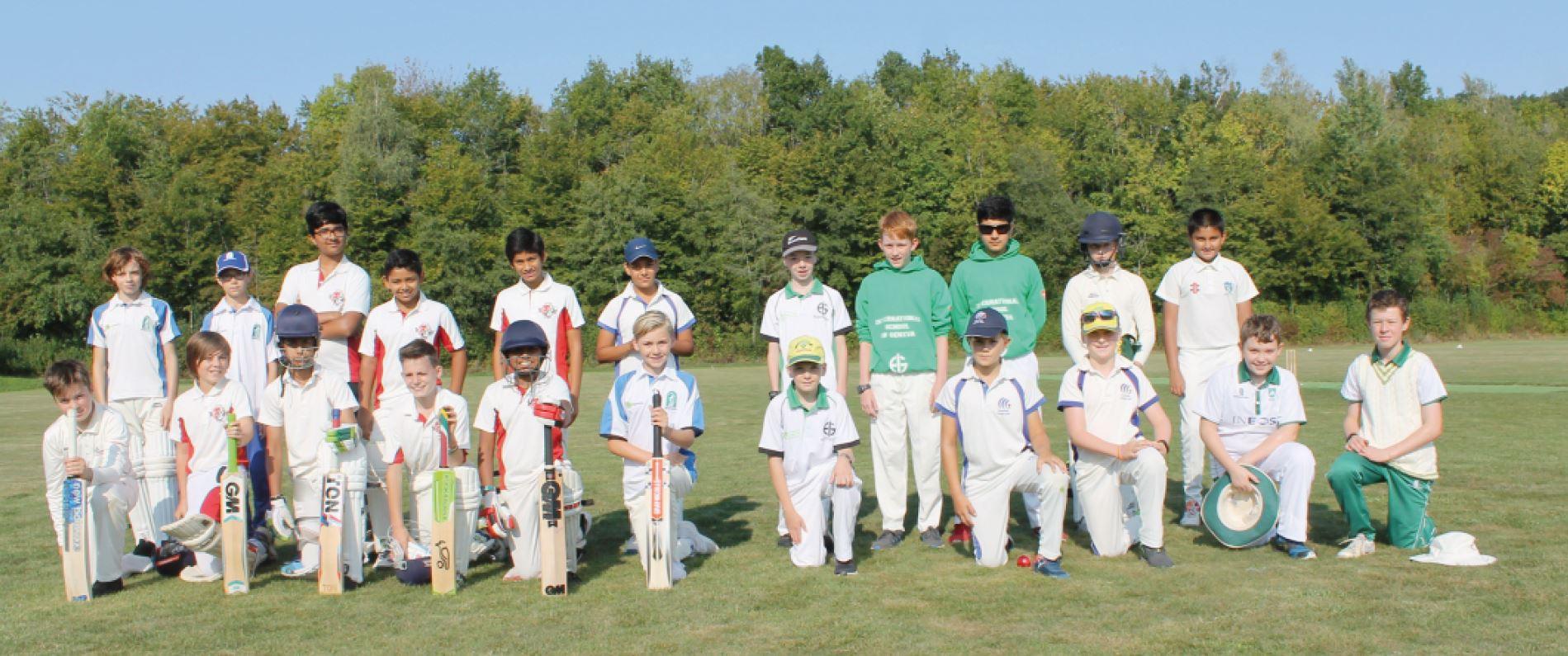 Cossonay, cricket-club. Juniors de Suisse en tournoi
