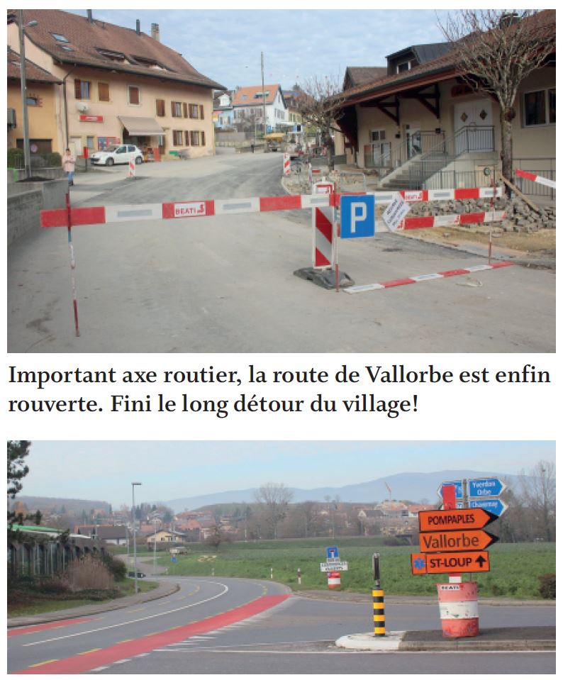 Pompaples, La traversée du village est rouverte