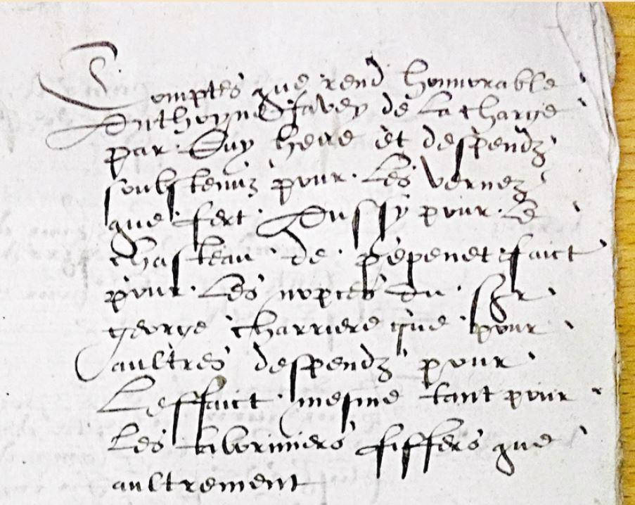 Trésors d'archives. En 1583 à Cossonay, on a bâti un château là où est la déchetterie