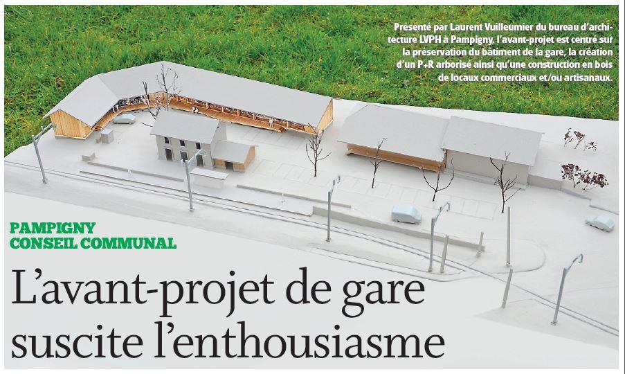 Pampigny, l'avant-projet de gare suscite l'enthousiasme