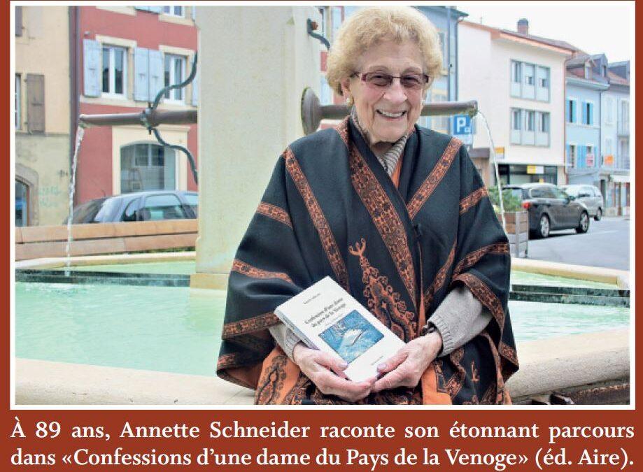 La Sarraz, Annette Schneider. Sa vie est un roman