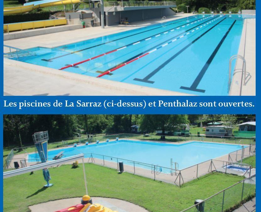 Piscines de La Sarraz et Penthalaz. Top départ !