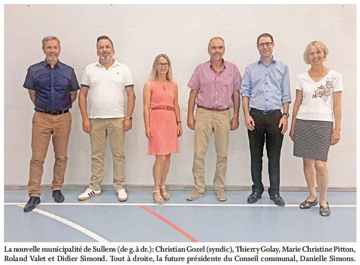 Sullens, Conseil communal du 17 juin 2021