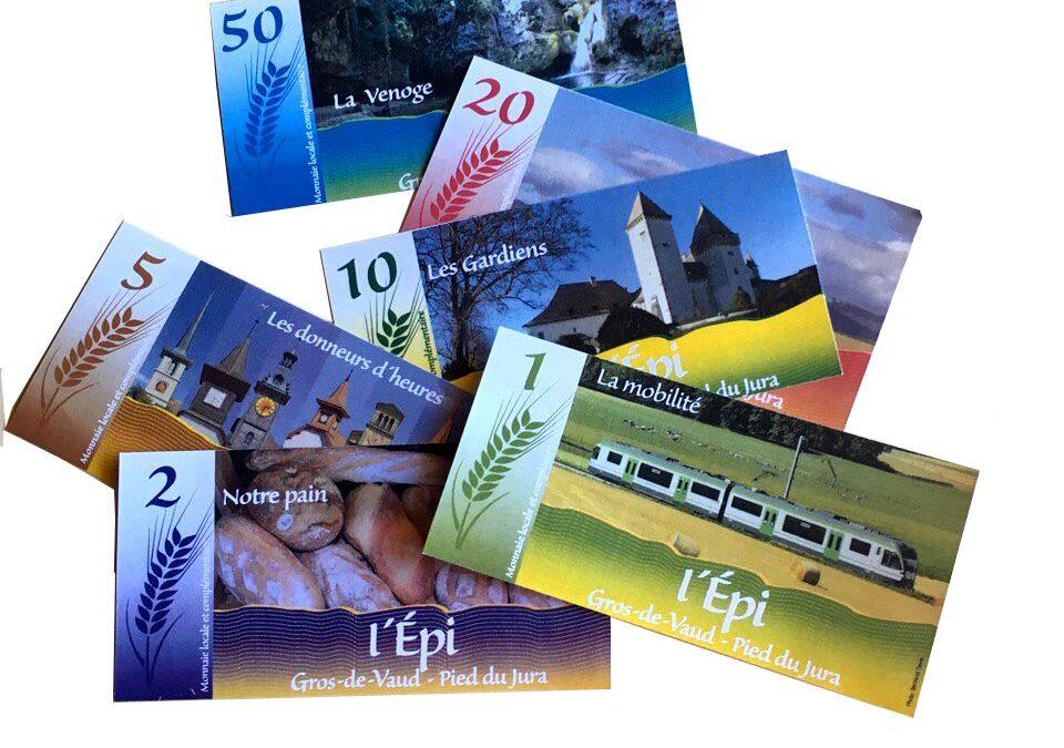 Monnaie locale Gros-de-Vaud et Pied du Jura. Fin de partie pour l'Epi