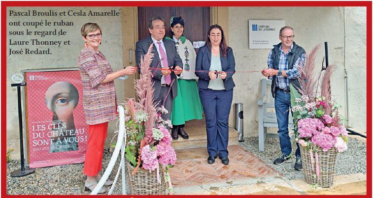Château de La Sarraz. Grand succès pour l'inauguration