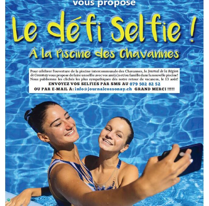 Le défi Selfie à la piscine des Chavannes !