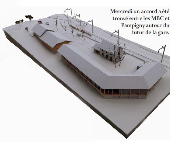 Pampigny. Entente sur le futur de la place de la gare