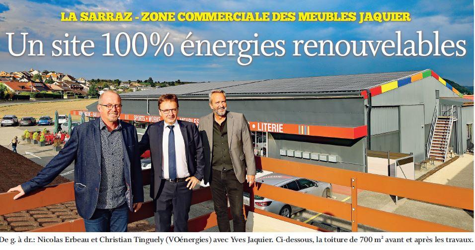 La Sarraz, Un site 100% énergies renouvelables