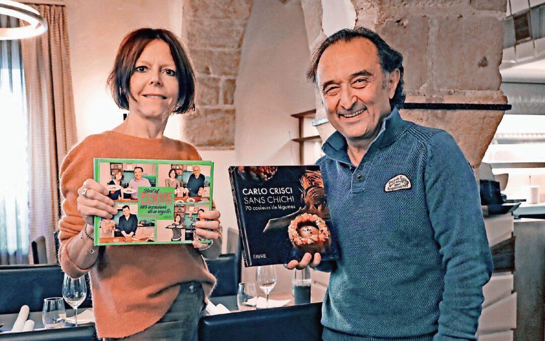 Cuisine, Annick Jeanmairet et Carlo Crisci sortent tous deux un livre de recettes