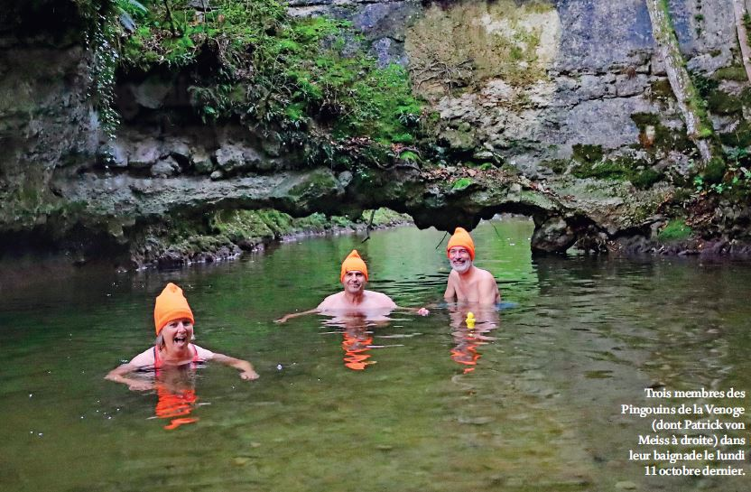 Les Pingouins de la Venoge bravent l'eau froide